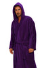 Monogrammed Velour Hooded Bathrobe-Adult