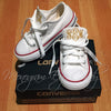 Monogram Toddler Converse Sneakers-White
