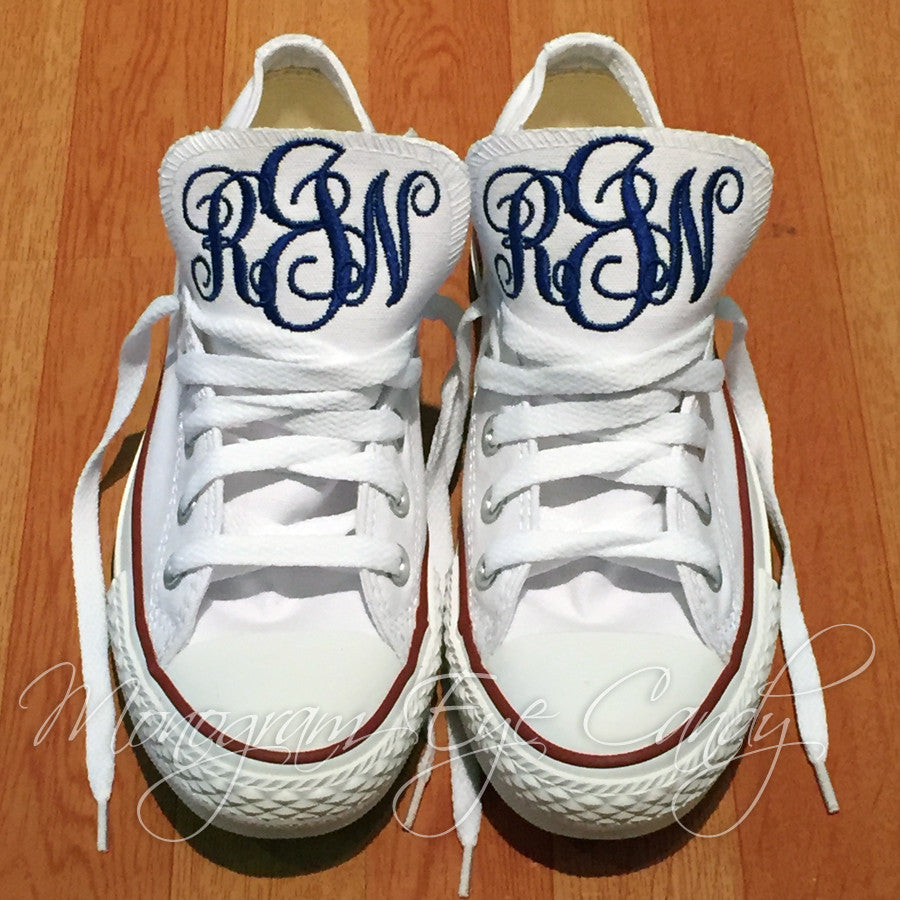 Monogram Converse Sneakers- Build Your Own