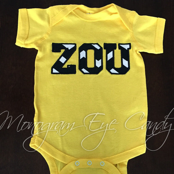ZOU Applique Onesie or Tee