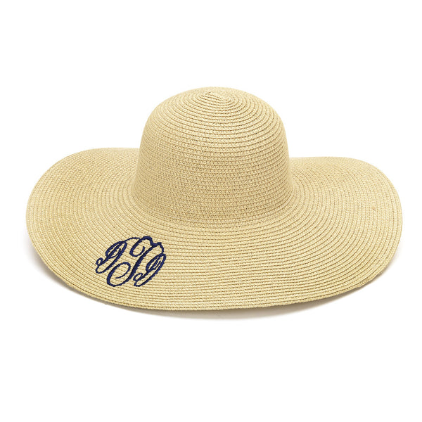 Monogram Floppy Hat- Natural