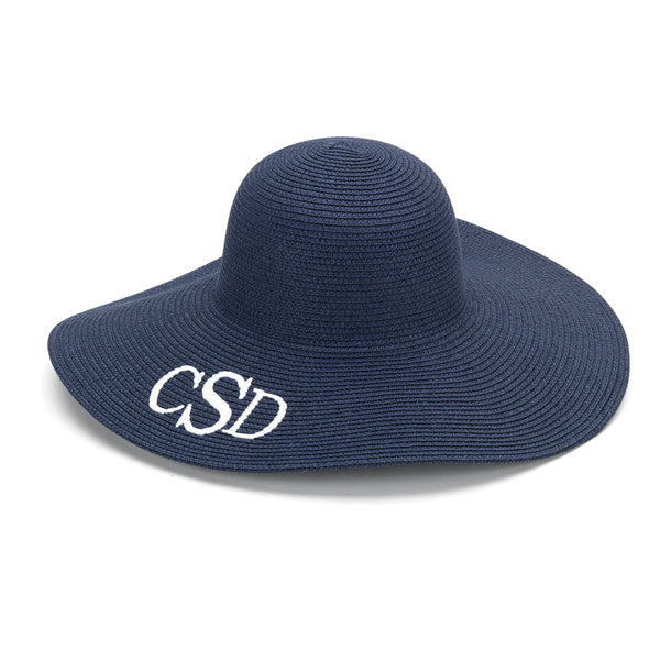 Monogram Floppy Hat- Navy