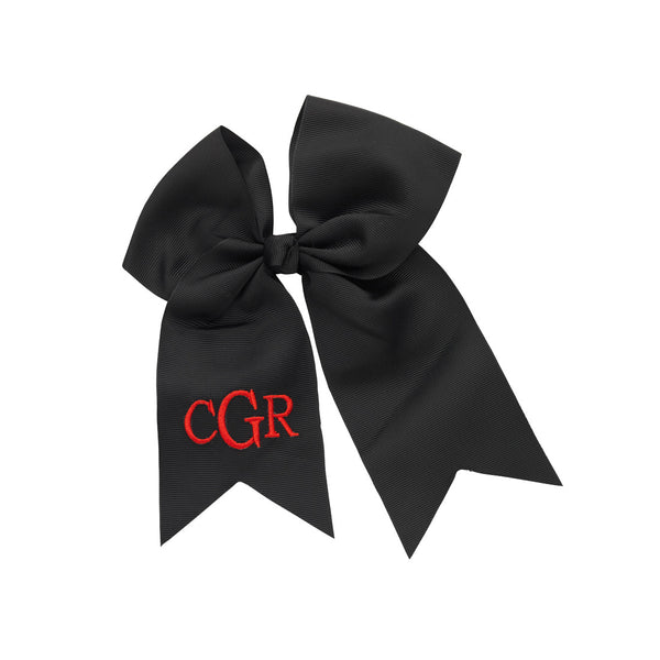 Monogram Hair Bow-Black