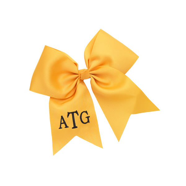 Monogram Hair Bow-Gold