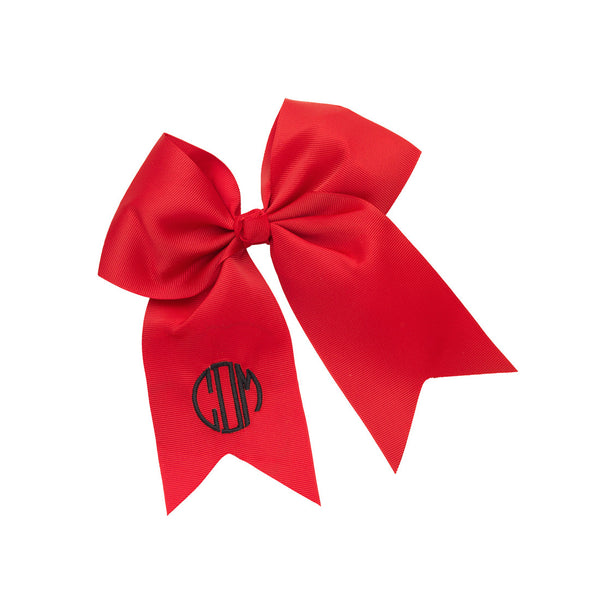 Monogram Hair Bow-Red
