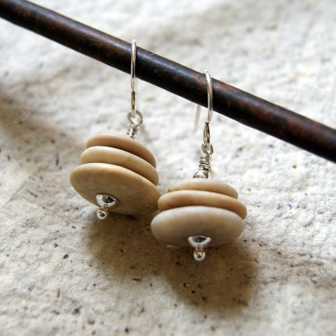 Beach Stone Cairn Earrings