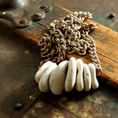 Beach Stone Hag Stone Necklace with Natural Holes by Wear Your Wild