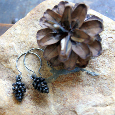 Rustic Pine Cone Earrings by Wear Your Wild