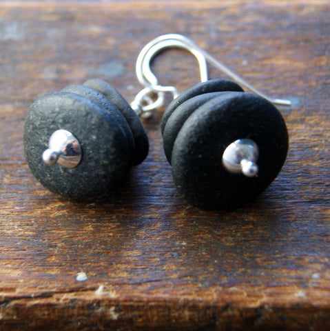 Black River Stone Cairn Earrings with Sterling Silver Earwires by Wear Your Wild