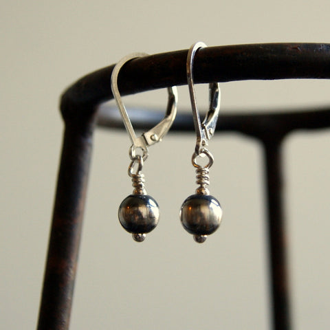 Sterling Silver Navajo Pearl Earrings