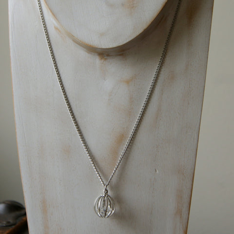 Herkimer Diamond Necklace with Vintage Stainless Steel Chain by Wear Your Wild