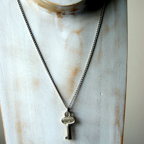 Vintage Steel Key Necklace with Vintage Stainless Steel Chain by Wear Your Wild