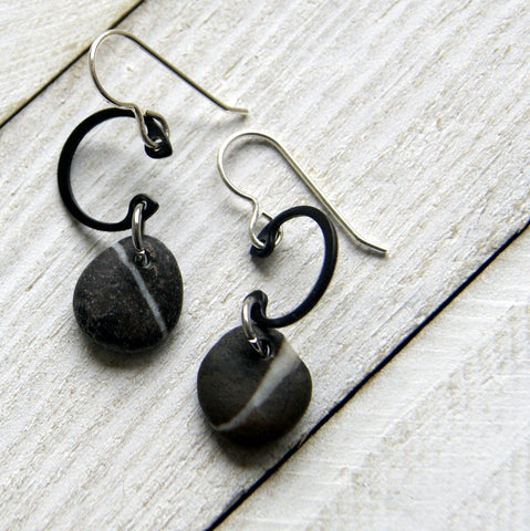 Wishing Stone Earrings with Sterling Silver Ear Wires