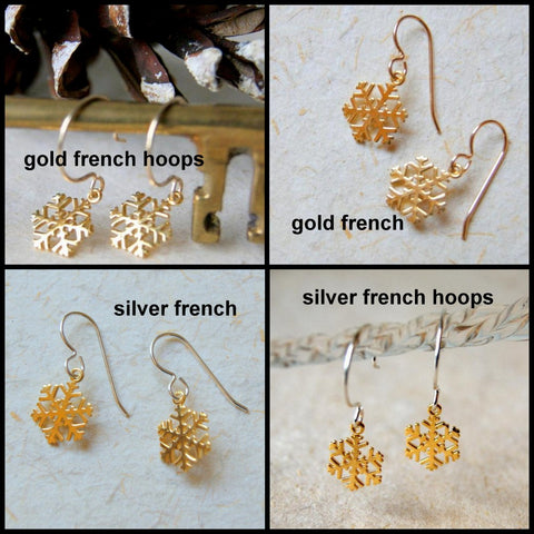 Gold Snowflake Earrings by Wear Your Wild