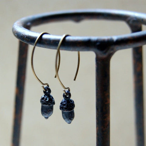 Rustic Acorn Earrings