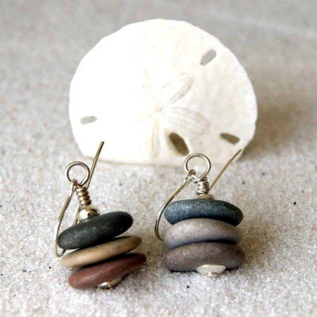Cairn Beach Stone Earrings by Wear Your Wild