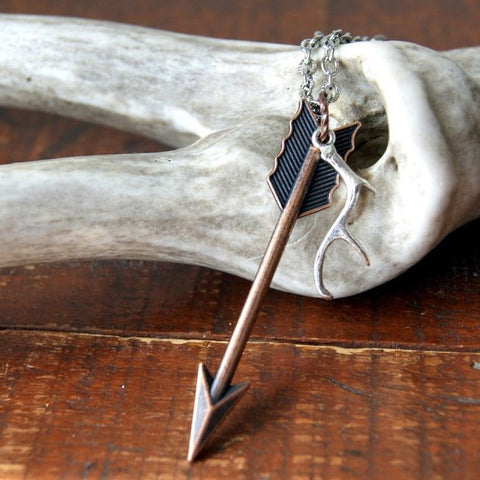 Antler and Arrow Necklace