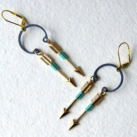 Double Arrow Earrings by Wear Your Wild