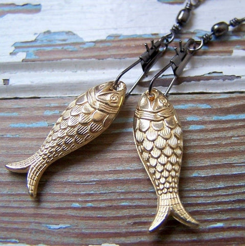 Gold Fish Earrings by Wear Your Wild