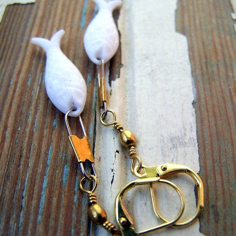 White Fish Earrings by Wear Your Wild