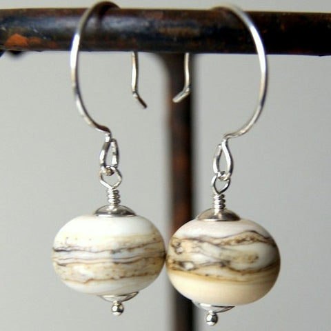 Lampwork Glass Earrings with Sterling Silver Earwires
