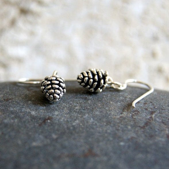 Sterling Silver Pine Cone Earrings by Wear Your Wild