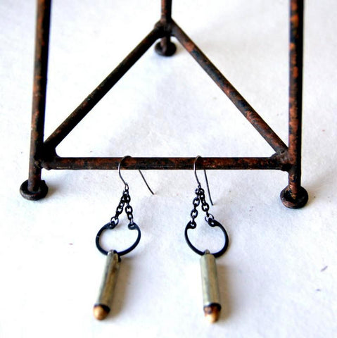 Antique Fertility Bead Earrings with Retaining Rings