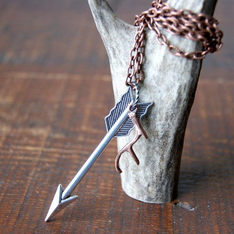 Arrow and Antler Necklace
