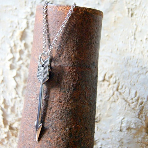 Stainless Steel Arrow Necklace