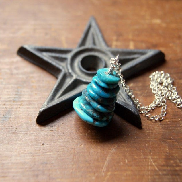 Turquoise Cairn Necklace by Wear Your Wild