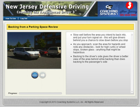 Defensive driving course ced 3 new jersey version 6 for Nj motor vehicle point reduction course