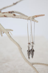 Silver Plated Corinthian Drop Earrings