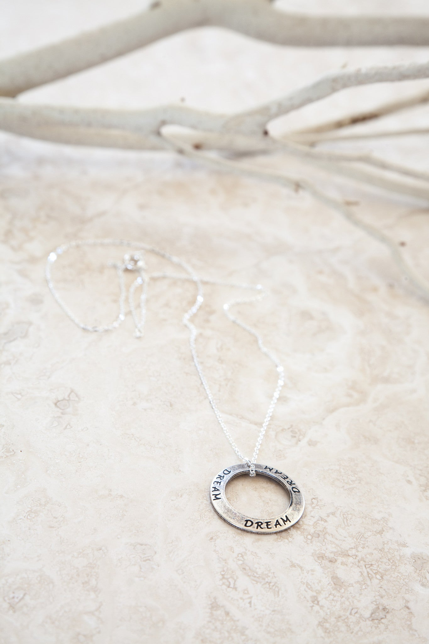 Delicate Sterling Silver and Silver Plated Dream Necklace