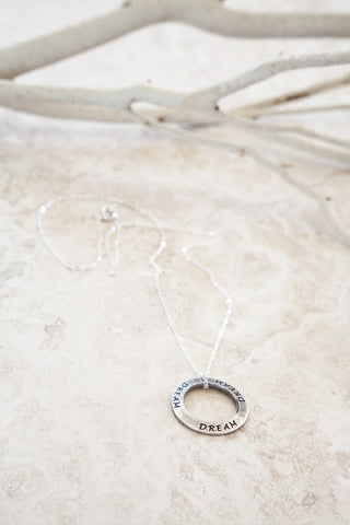 Delicate Silver Plated Dream Charmed Necklace