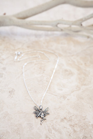 Delicate Silver Plated Fairy Charmed Necklace