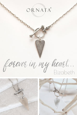 """Forever in My Heart"" Toggle Heart Silver Plated Necklace"
