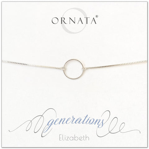 Family generations personalized sterling silver bolo bracelet. Our custom bracelets make good gifts for mothers, daughters, grandmothers, or granddaughters. Great mother's day gift.