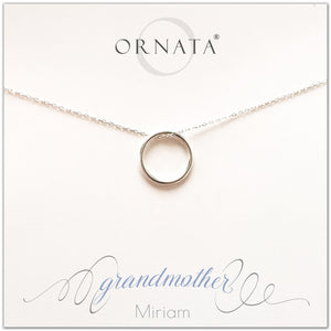 Grandmother necklace - personalized silver necklaces. Our sterling silver custom jewelry is a perfect gift for grandmas or grandmothers and mothers. Part of our Generations Jewelry collection. Also a good gift for Mother's Day. Mother's Day gift for grandma.