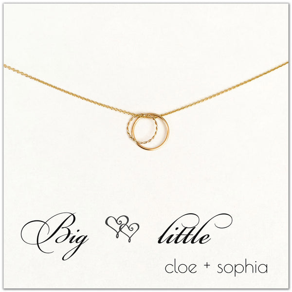 "Gold Filled ""Big Little"" Necklace 