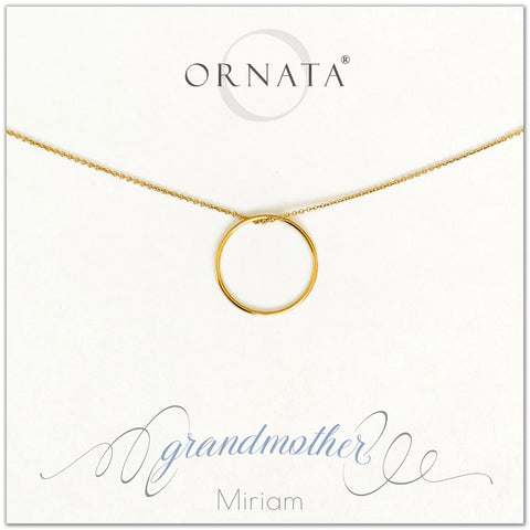 Grandmother necklace - personalized gold necklaces. Our 14 karat gold filled custom jewelry is a perfect gift for grandmas or grandmothers and mothers. Part of our Generations Jewelry collection. Also a good gift for Mother's Day.