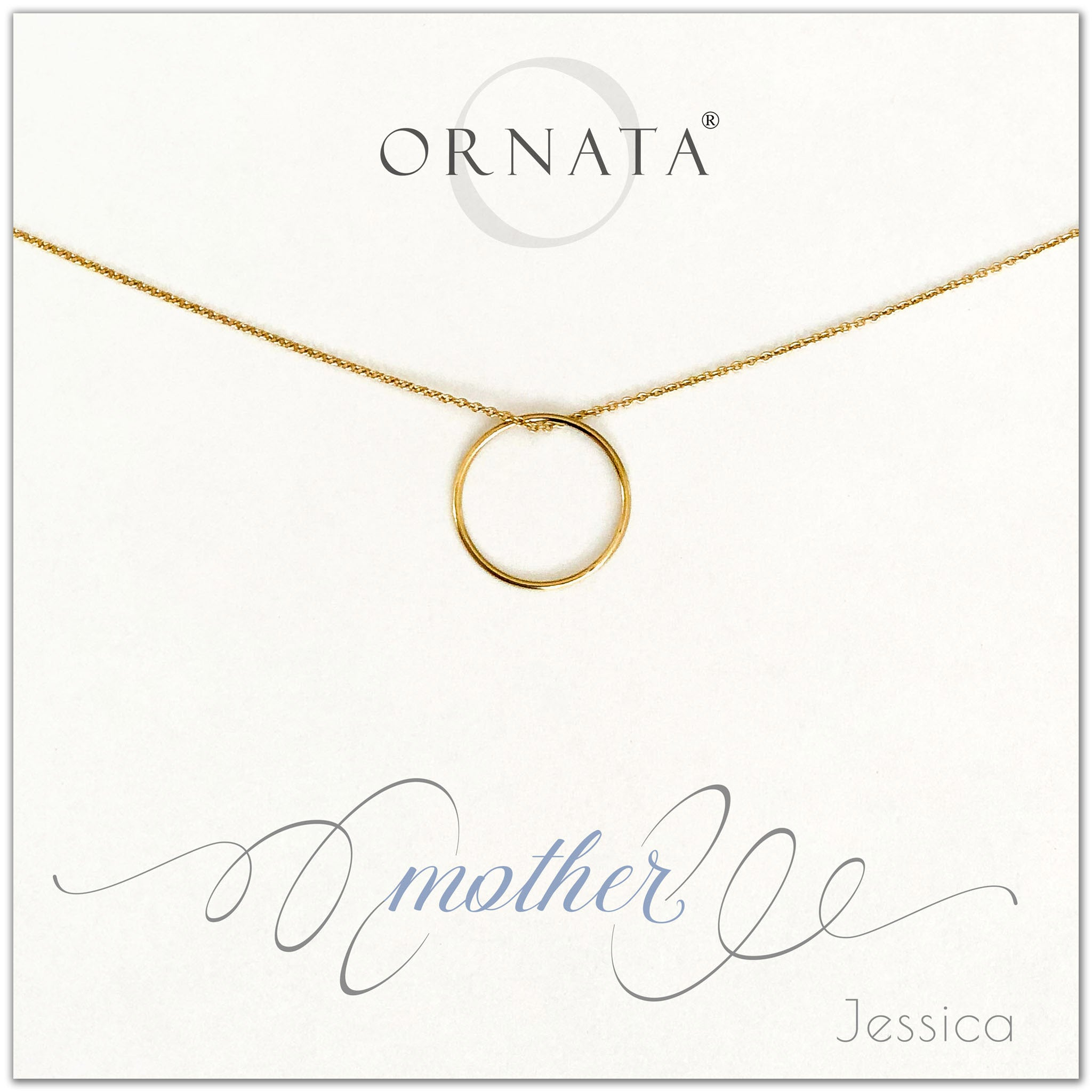 Mother or Mom - personalized gold necklaces. Our 14 karat gold filled custom jewelry is a perfect gift for mothers, daughters, granddaughters, grandmothers, sisters, best friends, wives, girlfriends, and family members. Also a good gift for Mother's Day.