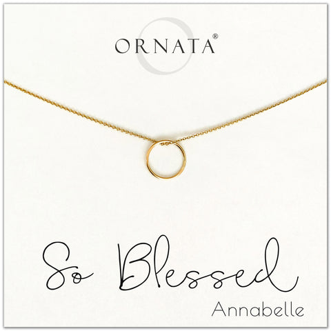 So Blessed - personalized gold necklaces. Our 14 karat gold filled custom jewelry is a perfect gift for best friends, sisters, daughters, or mother. Inspirational jewelry is also a good gift for Mother's Day.