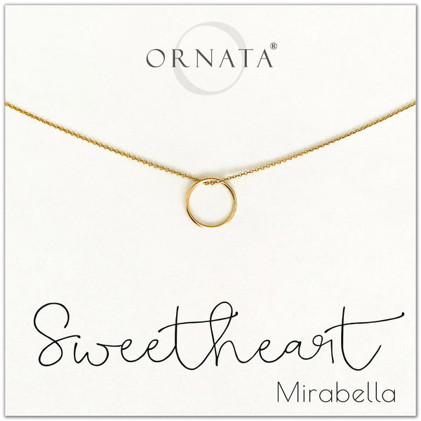 Sweetheart - personalized gold necklaces. Our 14 karat gold filled custom jewelry is a perfect gift for girlfriends, wives, daughters, mothers, loved ones, friends, sisters, and family members.