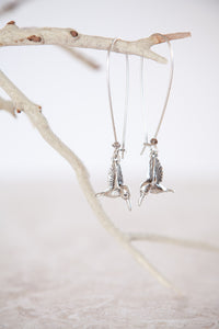 Silver Plated Hummingbird Earrings