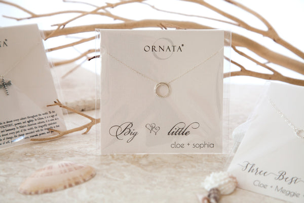"""Daughter"" Generations Sterling Silver Necklace on Personalized Jewelry Card"