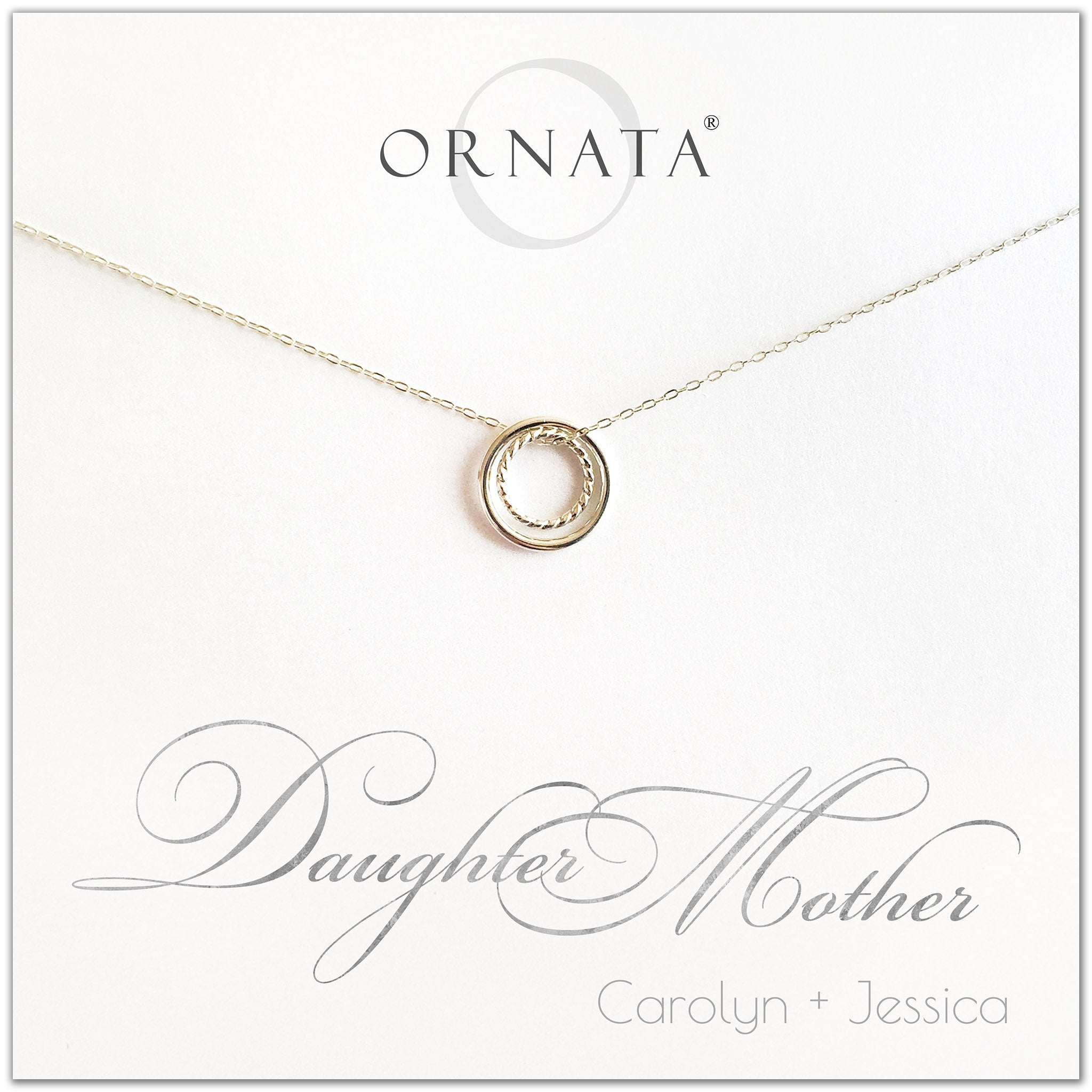 """Mother Daughter"" Sterling Silver Necklace 