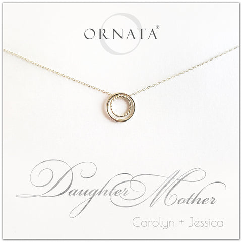 Mother's Day Jewelry - Mother Daughter Sterling Silver Necklace - Personalized | 2021 Edition
