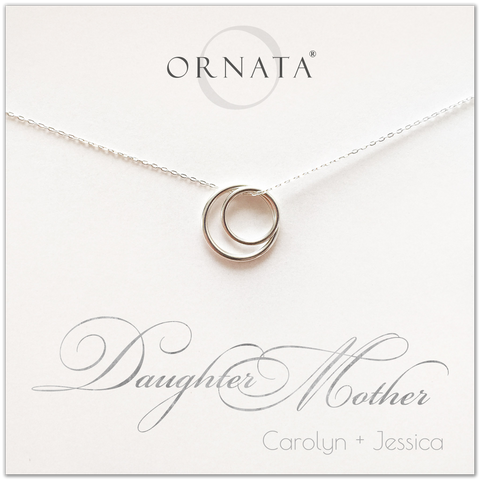 Mother Daughter PERSONALIZED Sterling Silver Necklace by Ornata