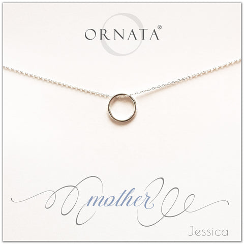 Mother or Mom - personalized silver necklaces. Our sterling silver custom jewelry is a perfect gift for mothers, daughters, granddaughters, grandmothers, sisters, best friends, wives, girlfriends, and family members. Also a good gift for Mother's Day.