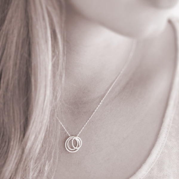 """Mother of Two"" Sterling Silver Necklace 